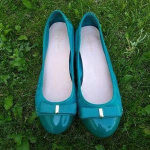 Cole Haan Teal Ballet Flats